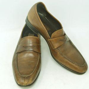 Mezlan Bradley By Mezlan Mens Cognac Brown Loafers